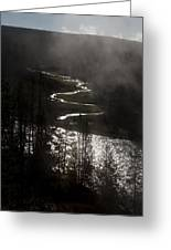 River Of Silver Greeting Card