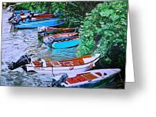 River Rainbow Greeting Card