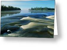 River Rapids Greeting Card