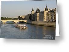 River Seine And Conciergerie. Paris Greeting Card