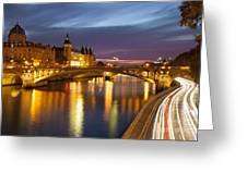River Seine And The Concierge Greeting Card