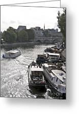 River Seine. Paris Greeting Card