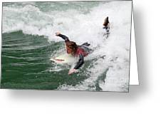 River Surfing Greeting Card