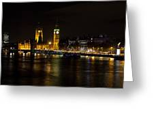 River Thames And Westminster Night View Greeting Card