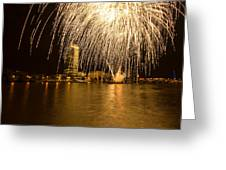 River Thames Fireworks Greeting Card