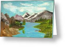 River Through Magnificance Greeting Card