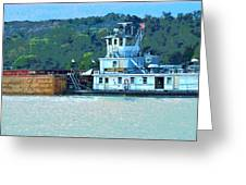 River Transportation Greeting Card