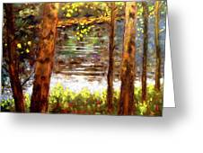 River Trees Greeting Card by John  Nolan