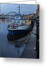 River Tyne Cruise Ship Greeting Card