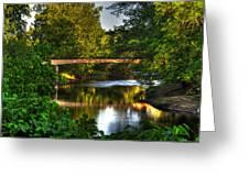 River Walk Bridge Greeting Card