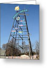 River Walk Tower Sign In West Sacramento California . 7d11400 Greeting Card