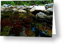 River Water And Rocks Greeting Card