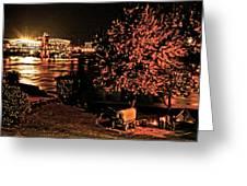 Riverfront 1865-2003 Tall Stacks  By Randall Branham Greeting Card