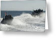 Riverine Command Boats And Security Greeting Card