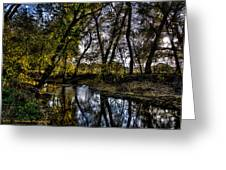 Rivers Edge Greeting Card by Dan Crosby