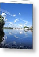 Riverside Marina Greeting Card