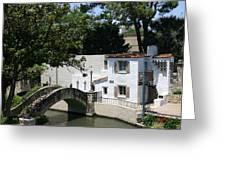 Riverwalk Bridge Greeting Card