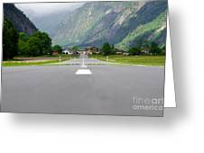 Road And Mountain Greeting Card