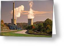 Road And Nuclear Plant.  Kentucky Greeting Card