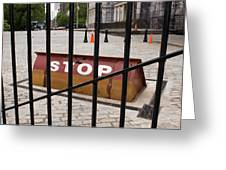 Road Blocker At New York City Hall. Greeting Card