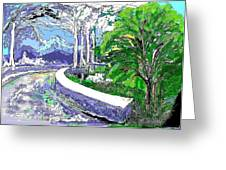 Road End Greeting Card