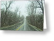 Road In The Snow Greeting Card