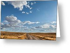 Road Near Ten Sleep Wyoming Greeting Card