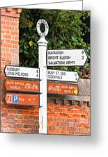 Road Signs Greeting Card