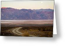 Road Through Death Valley Greeting Card