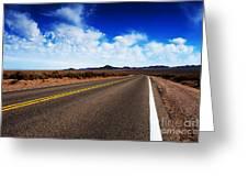 Road Through Rural Area Greeting Card