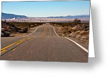 Road To Kelso Dunes Greeting Card