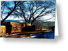 Road To Mescalero Greeting Card