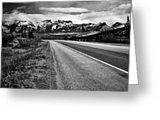 Road To Rocks  Greeting Card