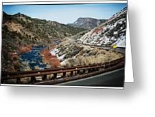 Road To Taos Village 1 Greeting Card