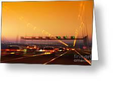 Road Traffic Greeting Card