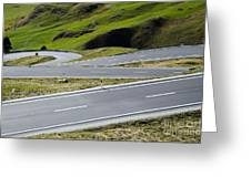 Road With Curves Greeting Card by Mats Silvan
