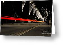 Road With Lights Greeting Card