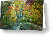 Roadway After The Rain  Greeting Card
