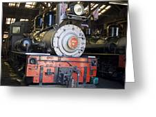 Roaring Camp West Side Shay Greeting Card