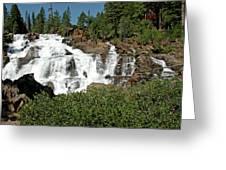 Roaring Falls Glen Alpine Falls Greeting Card