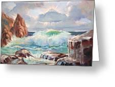 Roaring Waves Greeting Card
