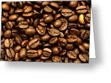 Roasted Coffee Beans Greeting Card