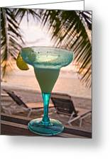 Roatans West Bay, Tropical Drink Greeting Card