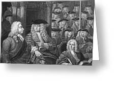 Robert Walpole (1676-1745) Greeting Card