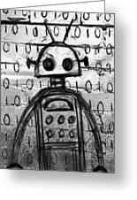 Robot Graffiti 2 Of 6 Greeting Card