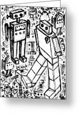 Robot Sketch 6 Of 6 Greeting Card