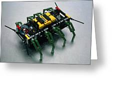 Robot Spider Constructed From Lego Greeting Card
