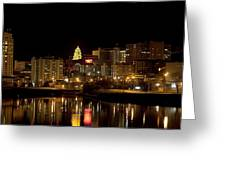 Rochester By Night Greeting Card