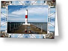 Rochester New York Harbor Lighthouse Greeting Card