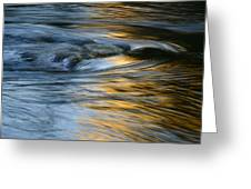 Rock And Blue Gold Water Greeting Card